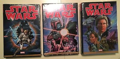 Star Wars Omnibus Vol: 1-3, SEALED, The Original Marvel Years! Collection