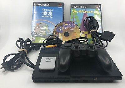 Sony PlayStation 2 SLIM PS2 Console SCPH-90001 + 1 Controller + 3 Games + Cables
