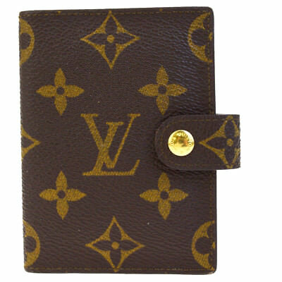 Auth LOUIS VUITTON Agenda Mini Day Planner Monogram Leather Brown R20007 01EF113