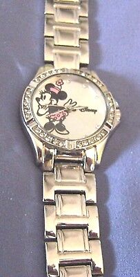 New Disney Ladies Minnie Mouse Crystals Watch