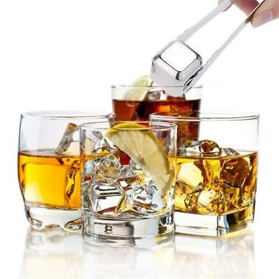 Stainless Steel Whiskey Cooler Wine Cooling Stone Ice Cubes Chillers Beer Drink