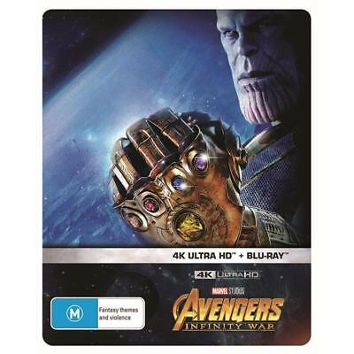 Avengers Infinity War Exclusive Limited Steelbook 4K UHD HDR Blu-ray BRAND NEW