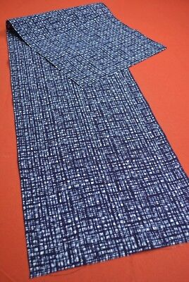 ME88/70 Vintage Japanese Fabric Cotton Antique Boro Patch Indigo Blue 53.1""