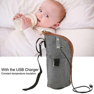 USB Portable Travel Milk Warm Heater Feeding Bottle Baby Storage Bag Convenient