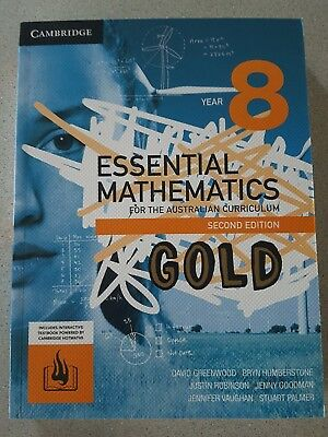Cambridge Essential Mathematics Gold for the Year 8 2nd edition