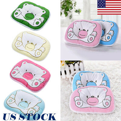 US Baby Pillow Newborn Anti Flat Head Syndrome for Crib Cot Bed Neck Support