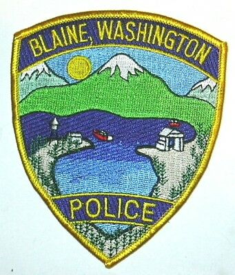 ecusson police USA BLAINE us police patch