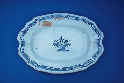 LATE 18th CENTURY ROUEN faience / delft platter Tin glaze earthenware