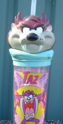 Taz Devil Plastic Drinking Mug Empty Very Good Condition