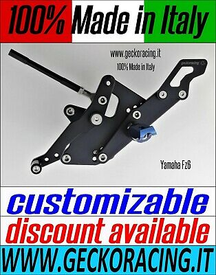 Adjustable Rearsets for Yamaha Fz6 | GeckoRacing 100% Made in Italy