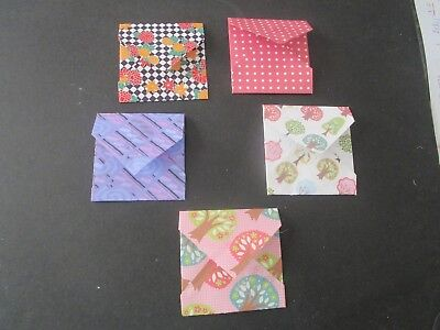 Die Cuts  Mini Envelopes 4- Patterened   Envelopes & Flowers Cardstock