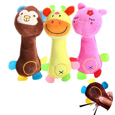 Play Funny Pet Puppy Chew Squeaker Squeaky For Dog Toy Cute Plush Sound Toys