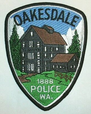 ecusson police USA OAKESDALE us police patch