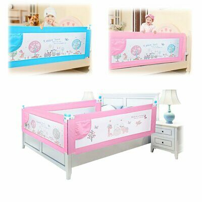 Kids Bed Guard Toddler Safety Children Bedguard Folding Metal Rail 180cm Blue
