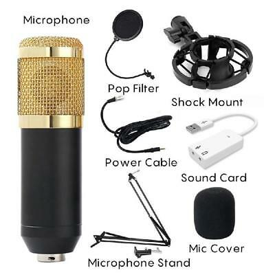 Condenser Microphone Kit Pro Audio Studio Recording & Brocasting BM800 Music