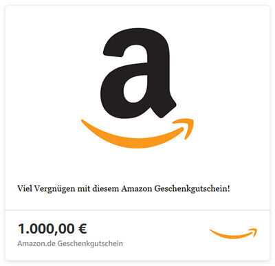 1000€ Amazon.de Gutschein Code, PDF per Mail, Voucher, Coupon