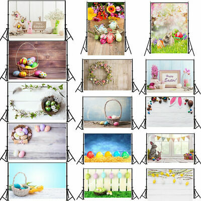 3/5/7ft Easter Eggs Coloful Backdrop Banner Photography Background Baby Shower
