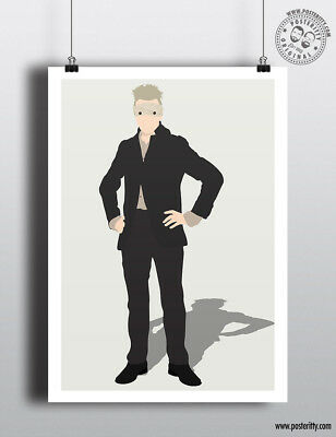 DAVID BOWIE - Blackstar Minimalist Poster Minimal Lazarus Print Art Major Tom