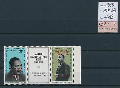 LJ60526 Cameroon 1969 Martin Luther King overprint MNH cv 122 EUR