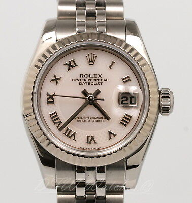 Rolex Lady Datejust 26 White Gold Factory Myriad Mother of Pearl 179174 26mm