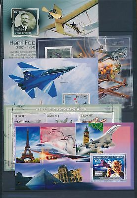 AB7-2307 World aviation aircraft airplanes fine lot of sheets MNH