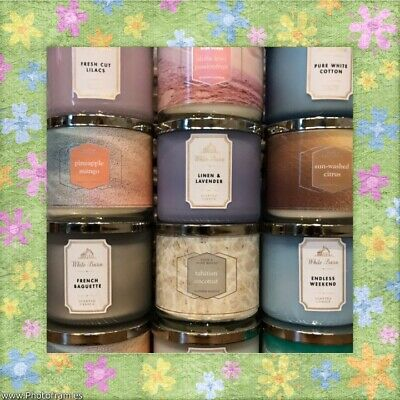 New Bath & Body Works 3 Wick Spring Candles 2019