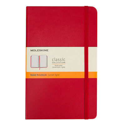 NEW Moleskine Classic Hard Cover Ruled Pocket Notebook Red