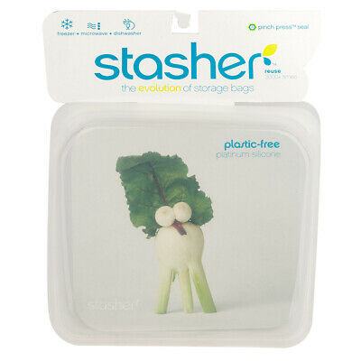 NEW Stasher Stasher Clear Lunch Bag 450ml