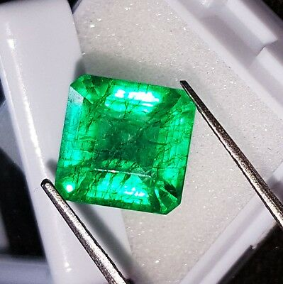 7.47 Ct Natural Emerald Loose Gemstone Certified Square Shape