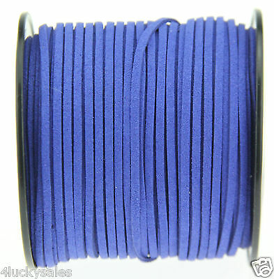 10yd 3mm Azure Suede Leather String Jewelry Making Thread Cords hot