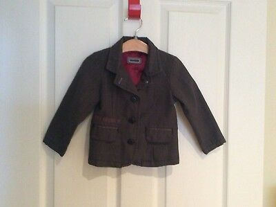 Mamas and Papas Boys Funky Checked Jacket..Age 12-18 Months