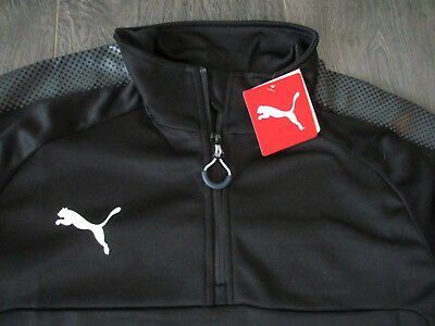Puma Ascension 1/4 Zip Training Top Fußball Trainingsshirt Fitness Mens Größe L