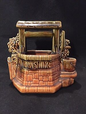Vintage Wishing Well Planter McCoy Pottery USA Art 1950's . Signed
