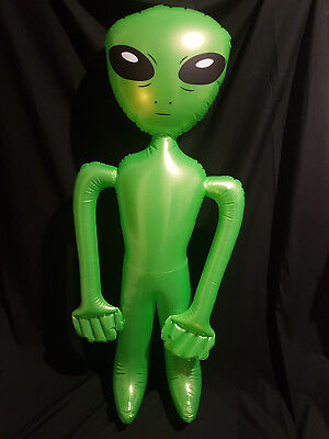 """Brand New Inflatable Green Alien 48"""" 122cm Costume Party Blow Up UFO Halloween"""