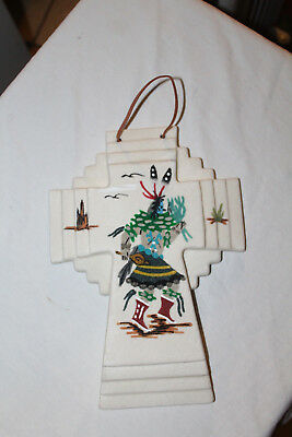 Authentic Native American Sand Painted Stacked Cross-Ceremonial Dancer-