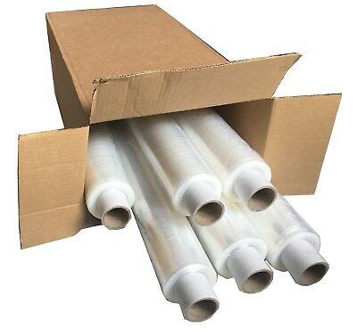 Pallet Stretch Shrink Wrap Film Clear Standard Core 500 mm x 300 m 15 Micron x 6