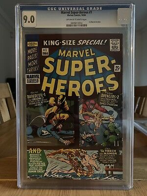 Marvel Superheroes King Size No1 Cgc 9.0. First Marvel One Shot. 1966