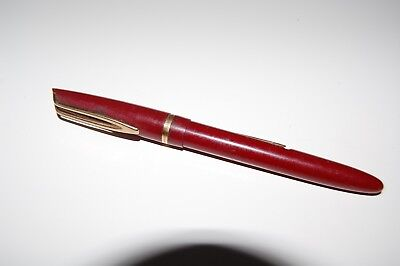 Vintage working Watermans fountain pen with 14ct gold nib for shorthand writer