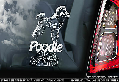 Poodle - Car Window Sticker - Pet Dog Sign Gift Novelty, Caniche Barbone - TYP2