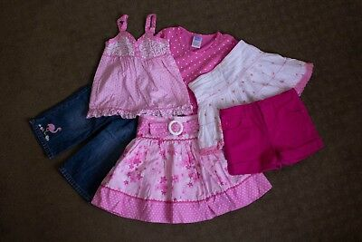 Size 4 Girls Bulk Lot Clothes Mostly Pumpkin Patch Skirts Shorts Tops 3/4 Jeans
