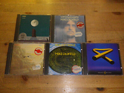 MIKE OLDFIELD: Ommadawn/ Hergest Ridge/ Crises etc., NICE LOT WITH 5 CD´S, TOP!