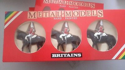 W.BRITAINS COLLECTION Mounted Lifeguards x 3. Set 7228