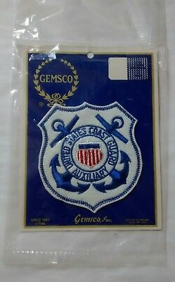 Vintage United States Coast Guard Auxiliary Embroidered Felt Patch c 1966 USCG