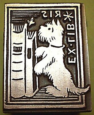 "Cute ""scottish Terrier"" (Ex-Libris) Printing Block."