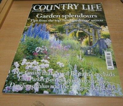 Country Life magazine 16 Jan 2019 Garden Splendours, Tom Parker Bowles; Sausages