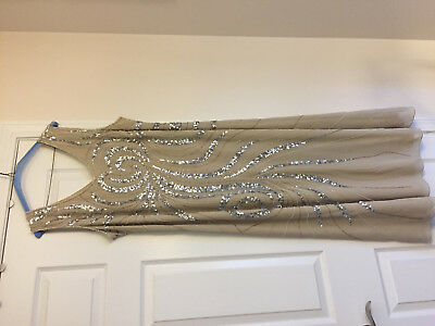 Mother Of The Bride Sequin Champagne Gown