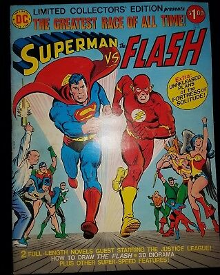Vintage Dc Comic Superman Vs Flash C-48 Awesome