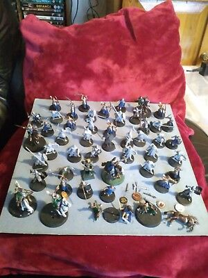 Warhammer Lord of The Rings Mixed Army Figures Some Mounted some Damaged