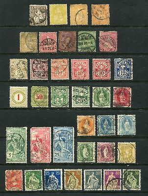 Switzerland 1862 - 1937 collection of 130 MH/U stamps.