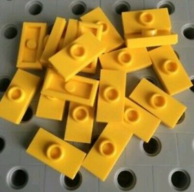Genuine Lego Part 4597713 Red Plate Modified 1x2 With Clip X4 New.